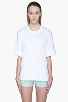 HAKAAN White slash back Fennel T-Shirt