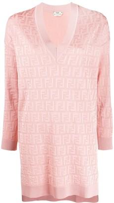 Fendi jacquard knit FF motif dress