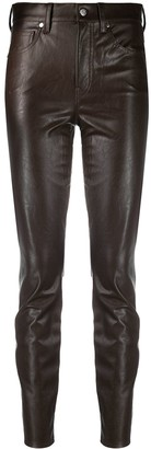 Veronica Beard Faux Leather Skinny Trousers