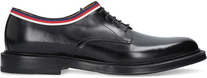 Gucci Beyond web trim leather derby shoes