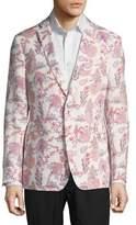 Tallia Orange The Mason Fit Slim Floral Linen Sportcoat