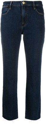 Frame Cropped-Leg Jeans