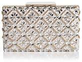 Sondra Roberts Jeweled Satin Box Clutch