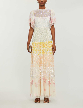Needle & Thread x Jasmine Hemsley Chakra sequin-embellished recycled-tulle gown