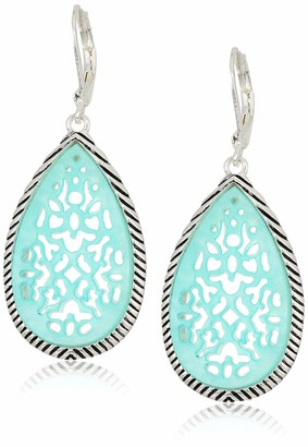 Chaps Women's Stone Drop Lever Back Earrings