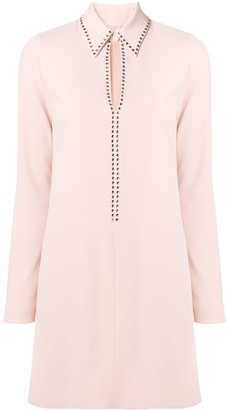 Victoria Victoria Beckham Embellished Split Shirt Dress