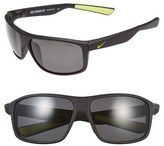 Nike Women's 'Premier 8.0' 63Mm Sunglasses - Black/ Volt/ Grey Polar Lens