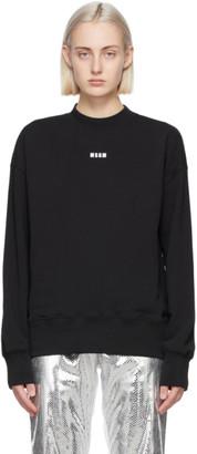 MSGM Black Micro Logo Sweatshirt