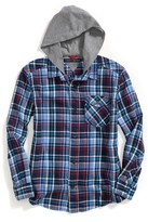 Tommy Hilfiger Runway Of Dreams Hooded Plaid Shirt