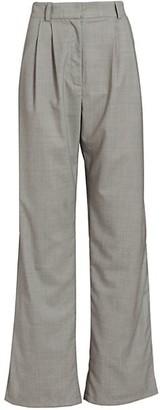 A.W.A.K.E. Mode High Side Slits Wool Tailored Pants