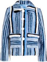 Saks Potts Lucy Blue Shearling Jacket