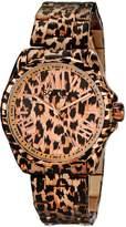 SO & CO New York Women's 5008.2 SoHo Animal-Print Stainless Steel Watch with Link Bracelet