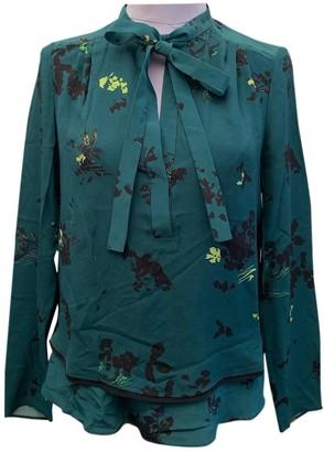 Proenza Schouler Green Silk Top for Women