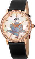 Burgi Womens Black Strap Watch-B-159bkr