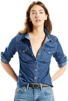 Levi's Levis Women's Classic Tailored Western Denim Shirt