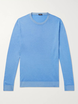 Kiton Slim-Fit Cashmere And Silk-Blend Sweater