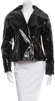 Oscar de la Renta Patent Leather Jacket