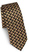 Dolce & Gabbana Cat-Print Silk Tie