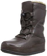 FitFlop Women's Mukluk Moc Lace Up Leather Boot