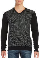 Calvin Klein Abstract V-Neck Sweater