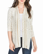 Lilla P Relaxed Slub Cardigan, Natural