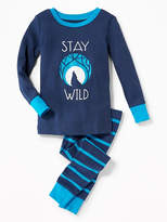 """Old Navy """"Stay Wild"""" Sleep Set for Toddler & Baby"""