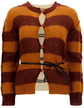 Marni Panelled Striped Knit Cardigan