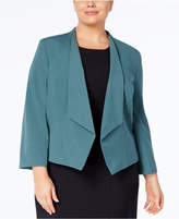 Nine West Plus Size Wing-Lapel Blazer