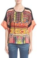 Etro Women's Beaded Print Silk Top