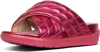 FitFlop Loosh Luxe Cross Slide Metallic Leather Sandals