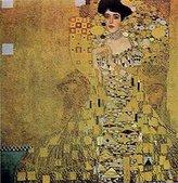 Gustav 1art1 Posters Klimt Poster Art Print - Adele Bloch Bauer I (27 x 27 inches)