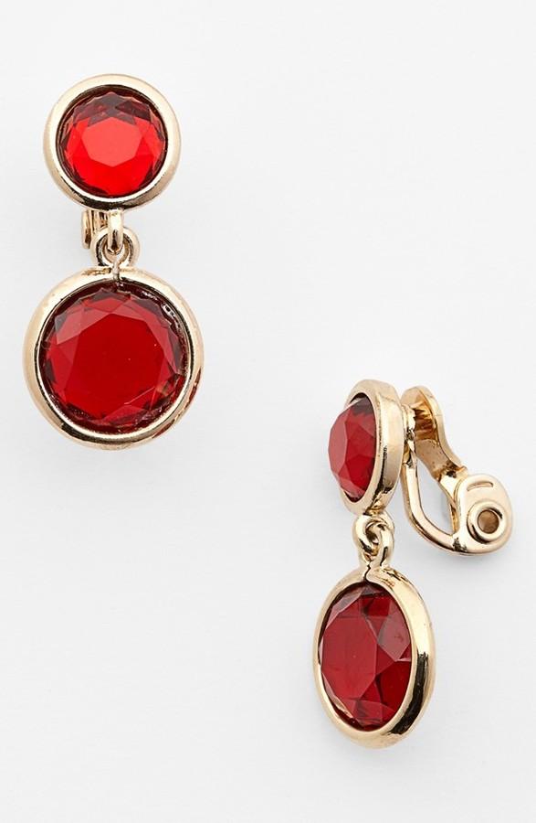 Anne Klein Drop Clip-On Earrings