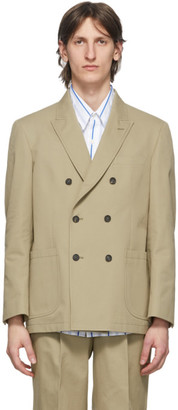 Noah NYC Tan Double-Breasted Blazer