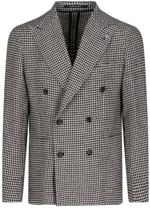 Tagliatore Double-breasted Hondstooth Blazer