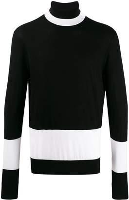 Neil Barrett contrast roll-neck sweater