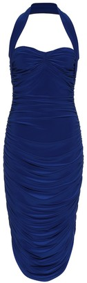 Norma Kamali Bill jersey halter dress