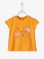 Vertbaudet Baby Girls Embroidered T-Shirt