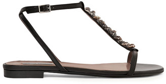 Tabitha Simmons Shell-embellished Leather Sandals