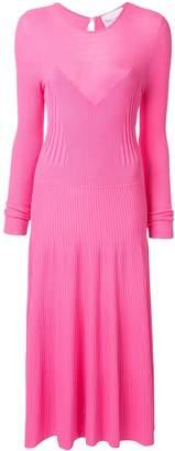 Carolina Herrera ribbed knitted flared dress