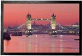 1art1® London Door Mat Floor Mat - Red Sky Over Tower Bridge (24 x 16 inches)
