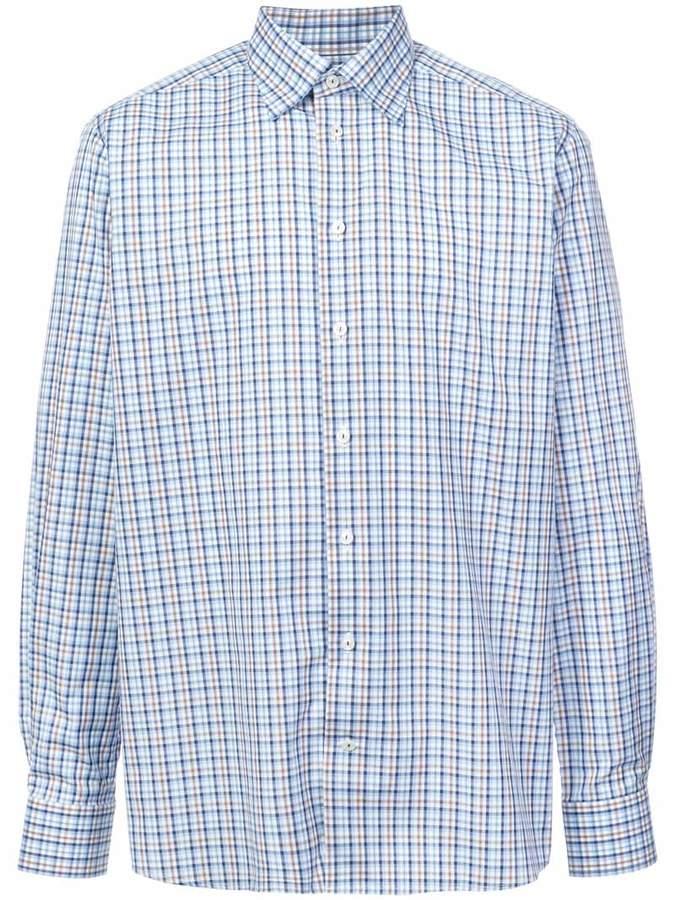Eton checked button shirt