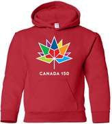 BwaDenn Youth Pullover Sweatshirt Hoodie Canada 150 MultiColo Maple