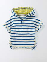 Stripy Towelling Throw-on Ivory/Skipper Stripe Baby Boden