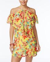 CITY STUDIOS City Triangles Juniors' Printed Cold-Shoulder Dress