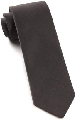 Tie Bar Astute Solid Charcoal Tie