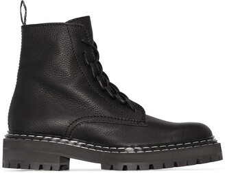 Proenza Schouler Leather Lace-Up Boots