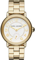 Marc Jacobs Women's Riley Gold-Tone Two-Hand Stainless Steel Watch, 36mm