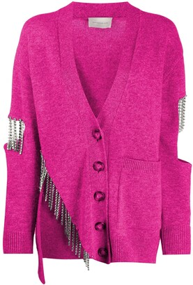 Christopher Kane Crystal Cupchain Embellished Cardigan