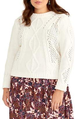 Rachel Roy Adrina Cable Sweater