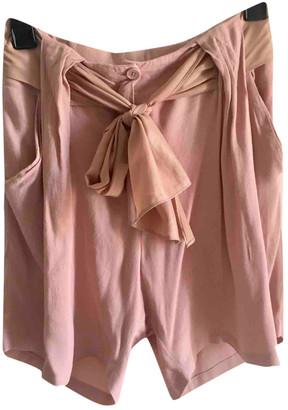 By Malene Birger Pink Viscose Shorts
